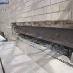 Steel Spandrel beam conditions behind Brick Lintel