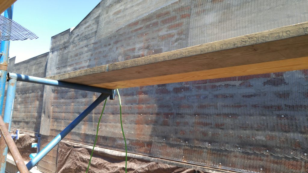 Installation of Stucco Wire lath with hit anchors